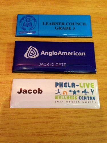 Code: Full colour name badges